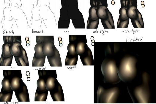 How I draw a butt by inmoMakuoro