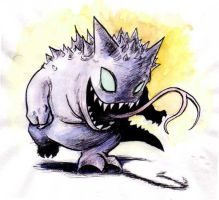 Gengar - Colour by CrazyChucky