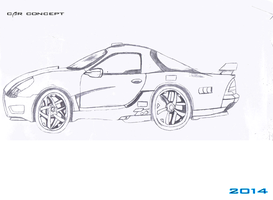 Car Design Game Concept Sketch by Luckymarine577