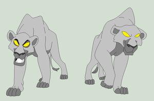 Traced Base - Two Lionesses by Shadow-Bases