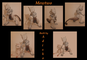 Mewtwo Paper Pokemon by Adisko