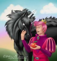 Prince Gumball + Lord Monochromicorn by M-Skirvin