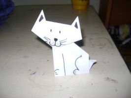 Origami cat :D by krash08