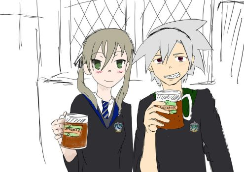 Soul and Maka being lil' nerds by Shamejob-Prente