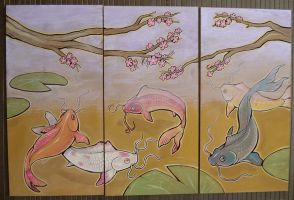 koi triptych by missmonster