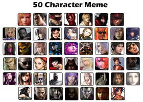 50 characters meme by White---Devil