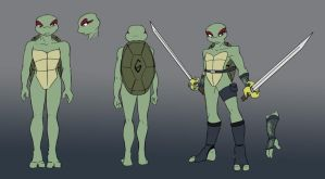 TMNT: Venus Design Sheet by Ty-Chou