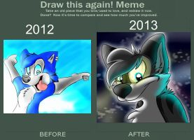 Remake! Before and after! by TheEnthusiasticWolf