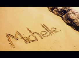 I wrote my name in the sand... by 0oSummerdreamo0
