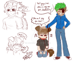 .: Anti's new pet - quick sketches :. by AquaGD