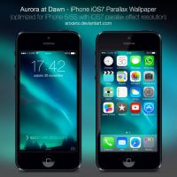 Aurora at Dawn - iPhone 5/5S iOS7 Wallpaper by anxanx