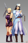 Queen's Blade - Cattleya and Melpha by Sentrythe2310