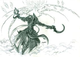 Malthael (pencils) by emmshin