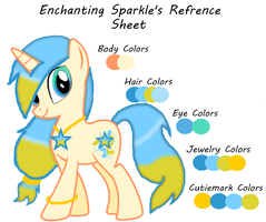 Enchanting Sparkle's Refrence Sheet by JewelThePonyLover12