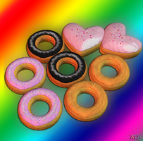Donut's for XnaLara DL by ZayrCroft