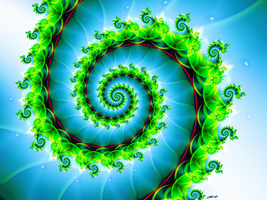 Green Spiral by M-L-Griffith