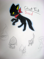 Ghost Trick Kitty by VedtheFlameDevil