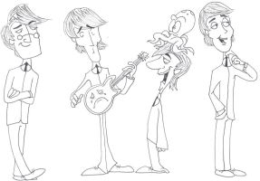 The Beatles by MontyMuppet12