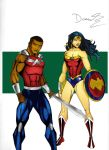 Wonder boy and Wonder woman- YJ art by RJDJ-Productions