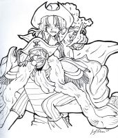 Buggy x Alvida - Ink by Avro-Chan