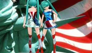 MMD 4th of July Miku by buddy1o