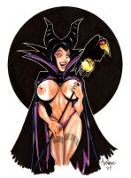Malificent.... the Evil Queen. by Axebone