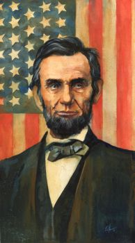 Abe Lincoln Portrait by RobHough