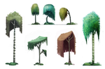 Day 696. Sidhe Concept Art - Trees by Cryptid-Creations