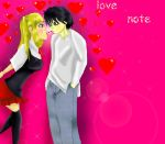 misa x l love note :D by sesshogirl