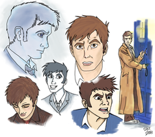 David Tennant Practice Doodles by StarlightWhispers