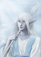 Dark Elf Ice Wizard by Erulisse2