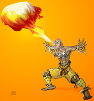 Dhalsim's Yoga Flame! by ugoyak