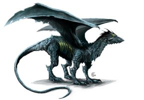 Black dragon by shiprock