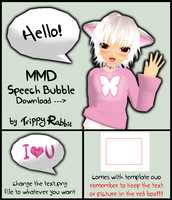 MMD Speech Bubble DL by Trippy-Rabbit