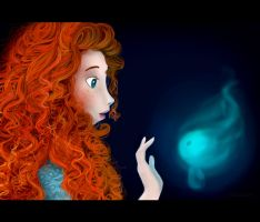 Merida finds a wisp by ellir-pa