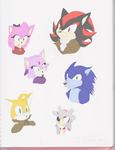 Sonic Supernatural High 3/4 View Characters by MsLunarUmbreon