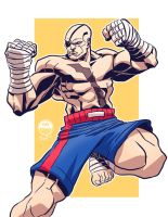 Street Fighter - Sagat - Commission by EryckWebbGraphics