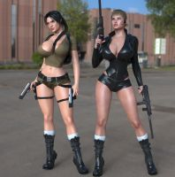 Lara and Laura back to action by guhzcoituz