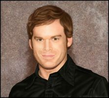 Michael C Hall Portrait by Calaymo