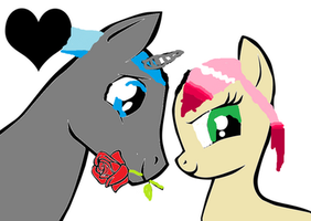 Lovina's and silverstones first date. by ImadePonies