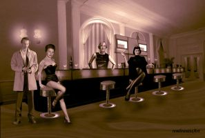 Cocktailbar in the fifties by rembrantt