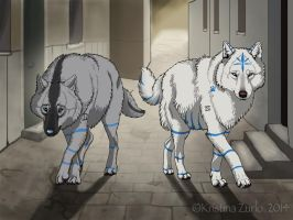 Wolf brothers by NatsumeWolf