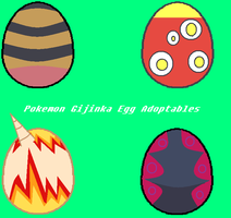 Pokemon Gijinka Egg Hatchables by Lunasadopts