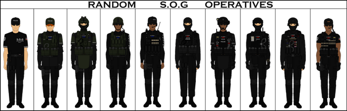 SOG Operatives by Milosh--Andrich