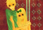 Butters and Marjorine by vanoty