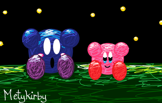 Meta Knight and Kirby by Metykirby
