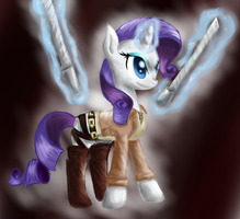 Rarity Attack on Titan by PegasisterCake