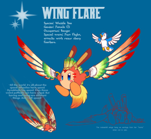 Wing Flare insert lame title by DragonFiresongs