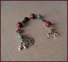 Woodland pagan prayer beads by Marjolijn-Ashara
