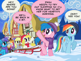 Gone Sledding by SorcerusHorserus